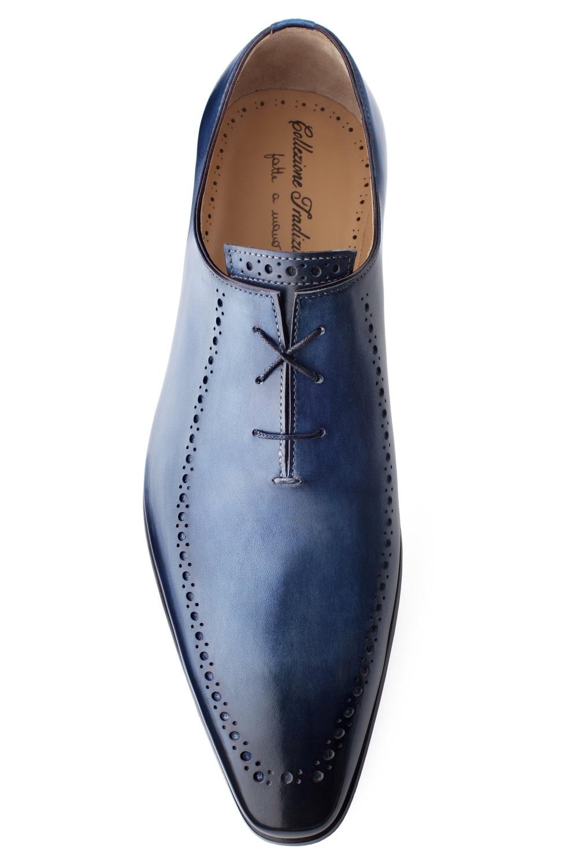 richelieu enzo bleu patin pour homme finsbury shoes. Black Bedroom Furniture Sets. Home Design Ideas