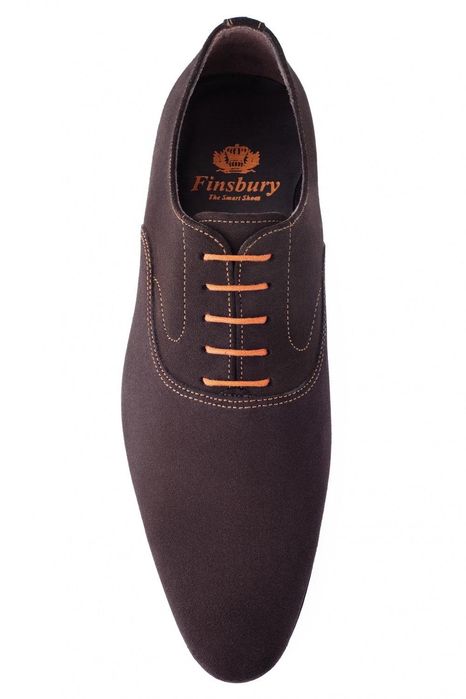 richelieu palma daim marron pour homme finsbury shoes. Black Bedroom Furniture Sets. Home Design Ideas