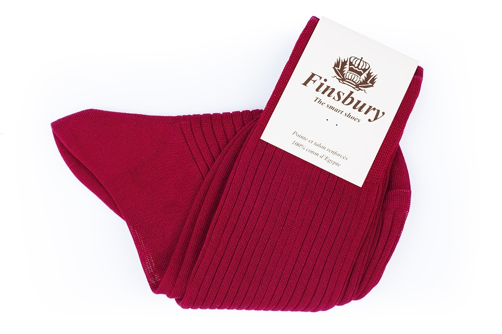 Crimson Cotton Socks