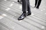 Chaussure Amalfi en Croco Noir