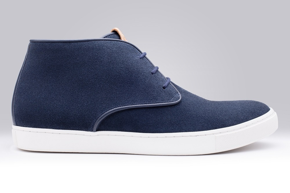 Boots CALI Navy Blue Suede