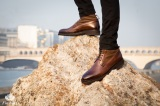 Boots bottines cuir homme Yukon Marron homme - Finsbury Shoes