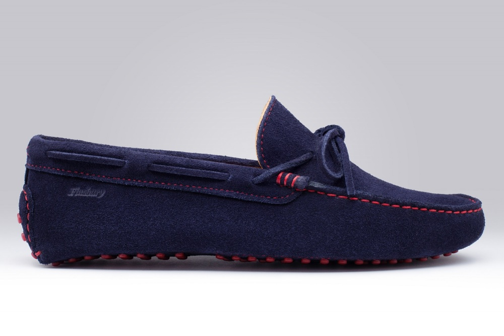 Loafers GINO Navy Blue Suede