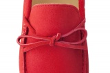 Mocassin Gino Veau Velours Rouge