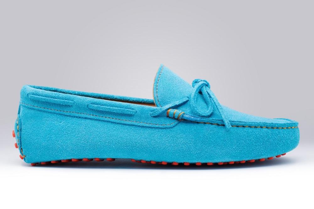 GINO Veau Velours Turquoise
