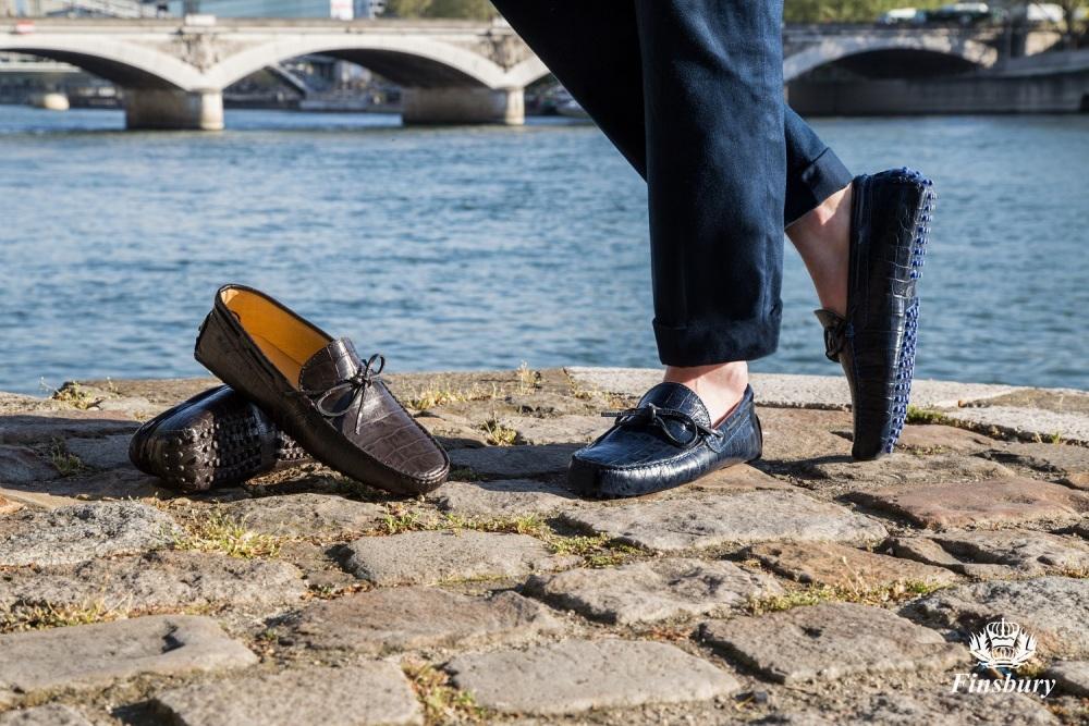 2b87e0b61bf Gino Brown Crocodile Men s Loafers - Finsbury Shoes