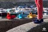 Mocassin Gino Veau Velours Bleu Marine