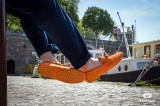 Mocassin Gino Veau Velours Orange