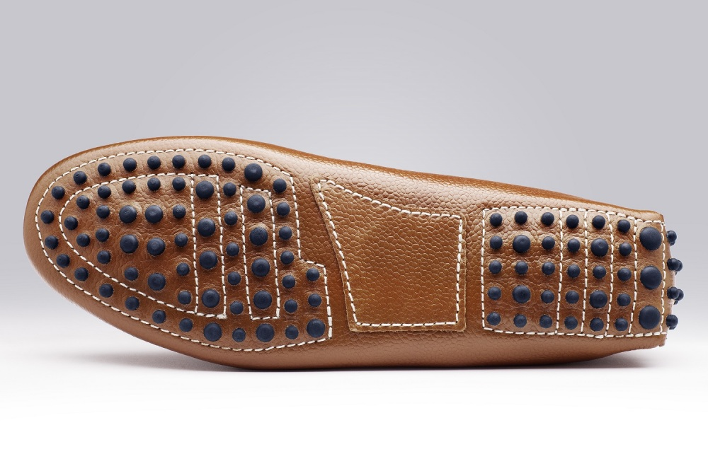 5889f2f72bb Riviera Light Brown Pebble-Grain Men s Loafers - Finsbury Shoes