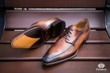 Chaussure Derby Montceaux Marron Patiné