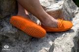 Mocassin Gino Veau Velours Orange