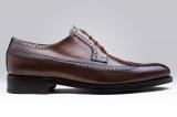 Chaussures Clifton modèle Derby en cuir marron noyer