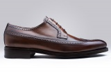 clifton chestnut brown mens derby shoe