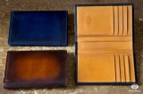 Leather Wallet Blue Patina