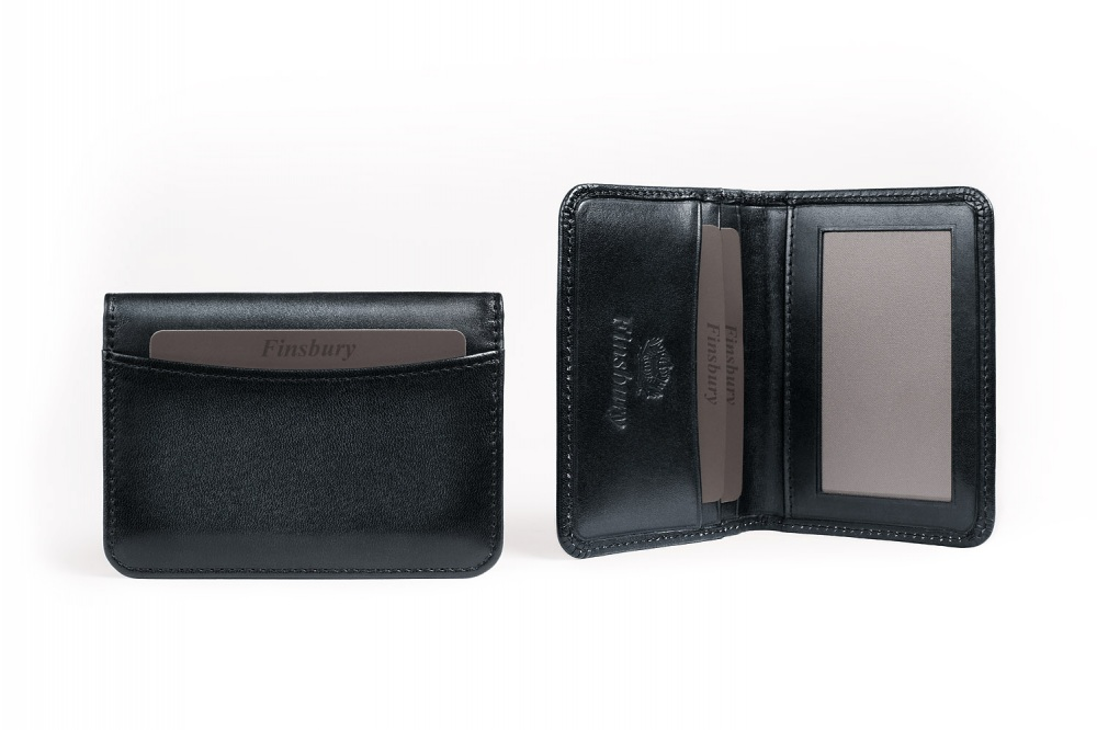Leather Card Holder Black Patina