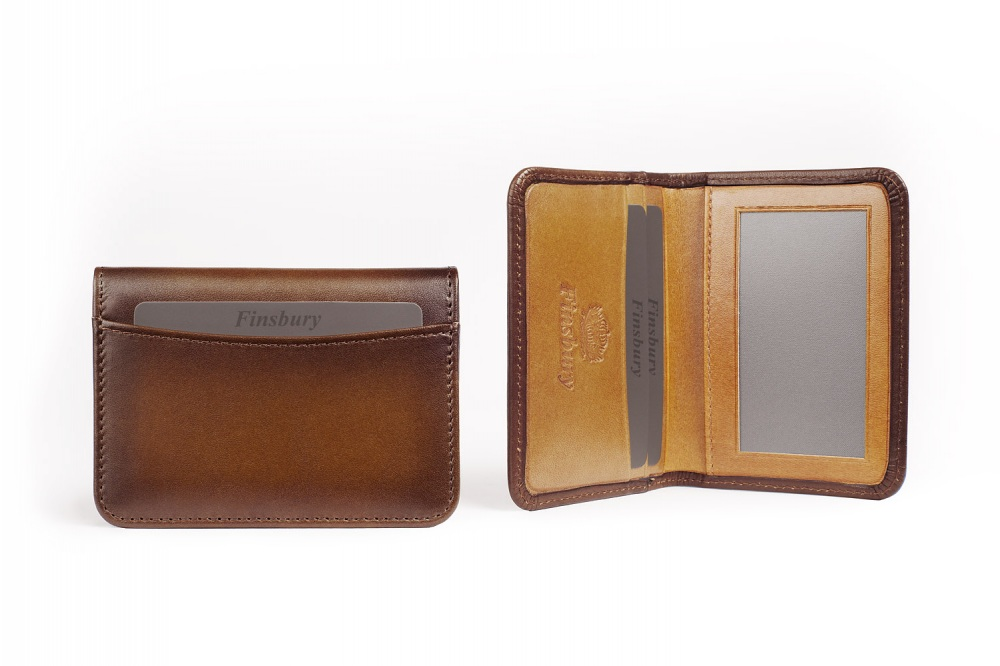 Leather Card Holder Brown Patina