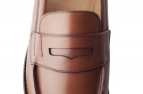 College 1986 gold mens loafers