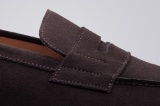 College 1986 brown suede mens loafers