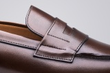 College 1986 dark brown mens loafers