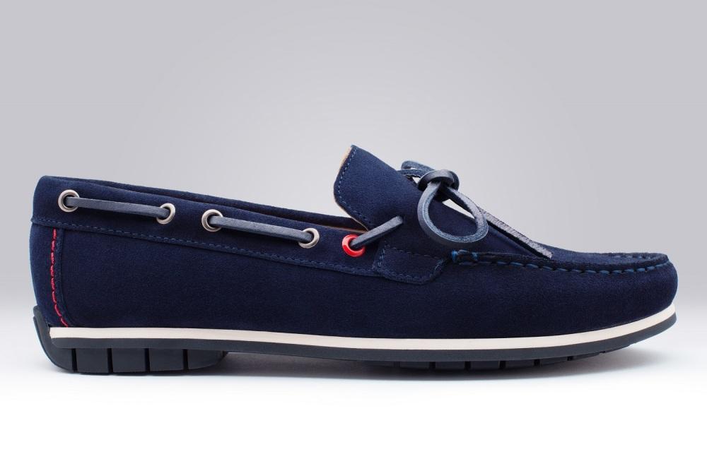 279ea86c3f9 Bogota Navy Blue Suede Men s Loafers - Finsbury Shoes