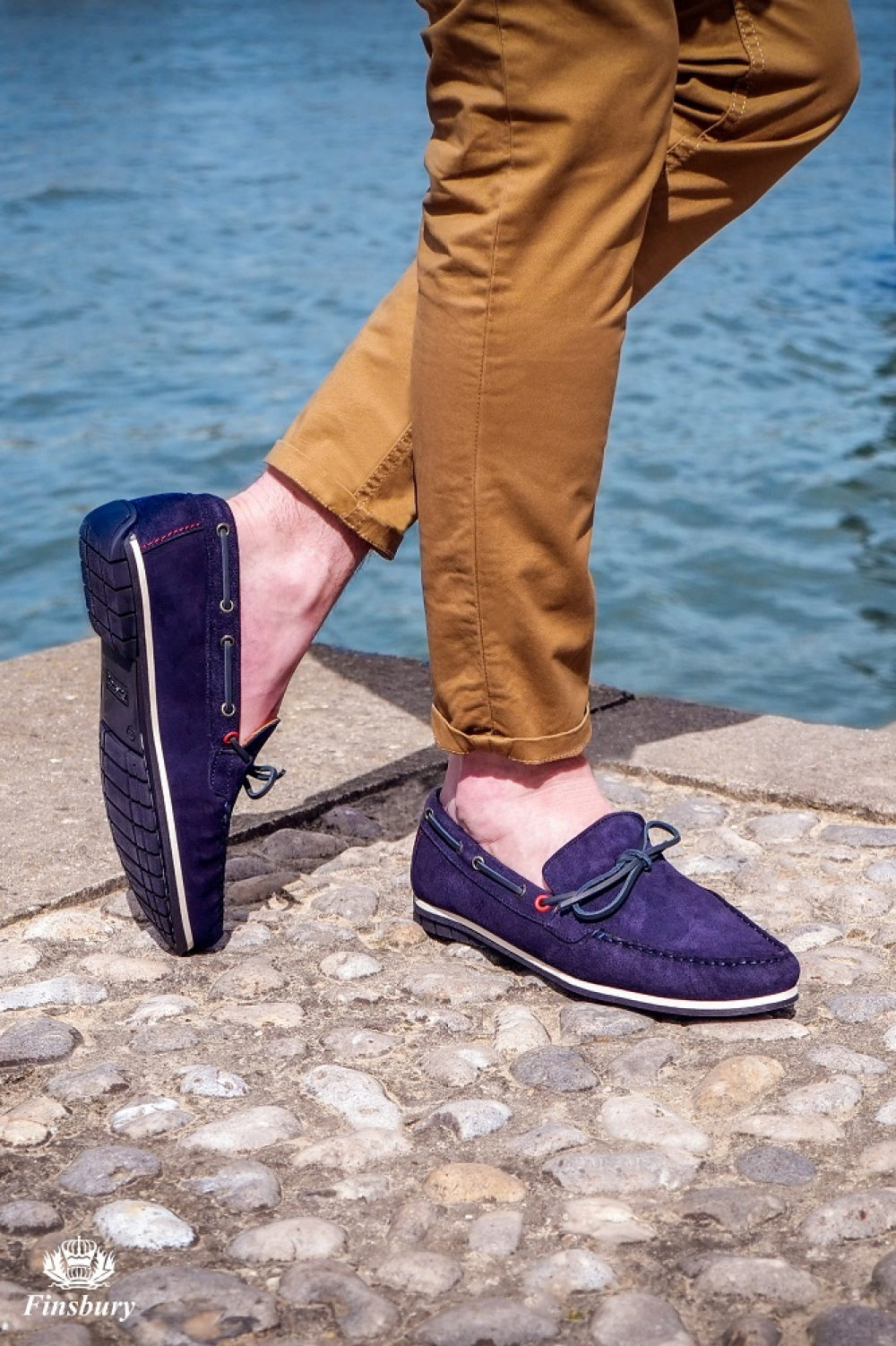 Loafers BOGOTA Navy Suede