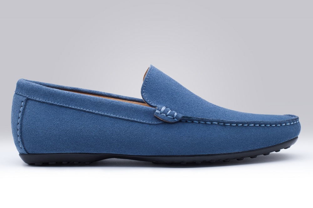 Loafers DANDY Blue Suede