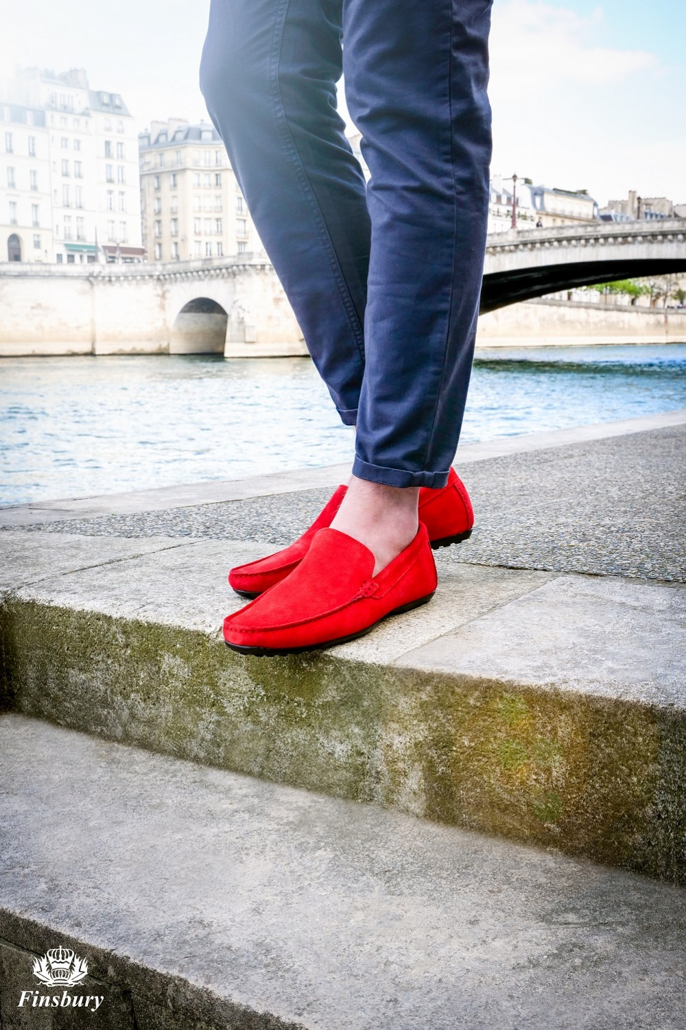 Loafers DANDY Red Suede
