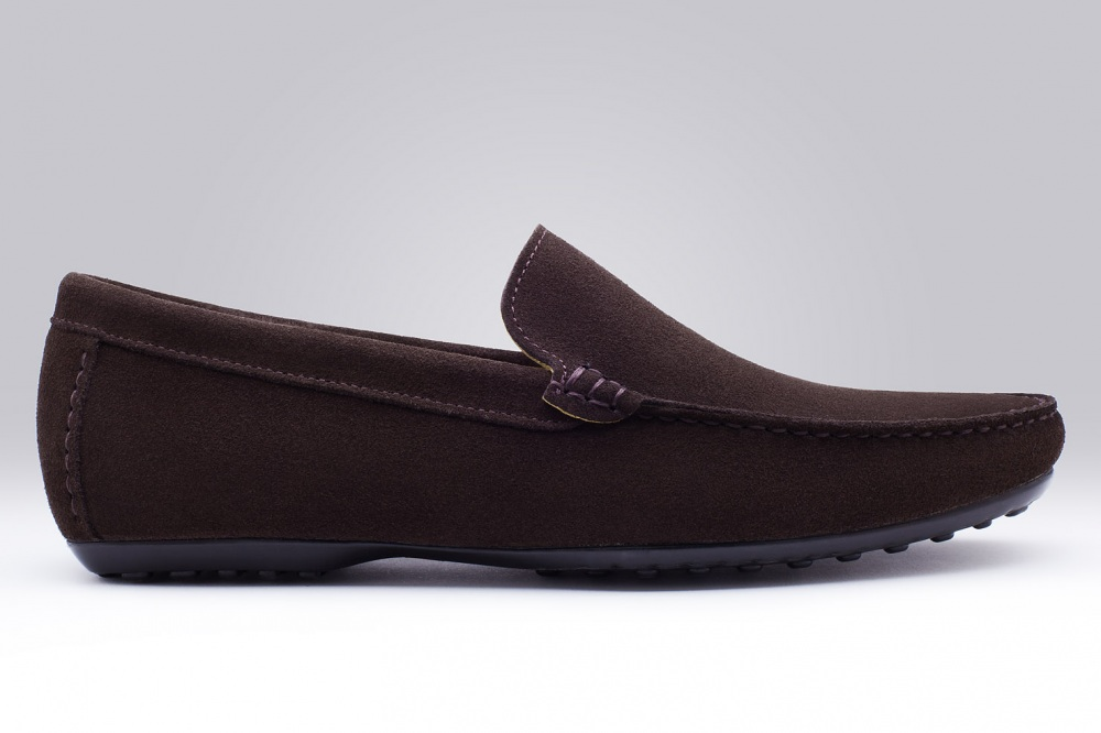 Loafers DANDY Brown Suede