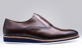 Richelieu Will Marron Noyer semelle gomme - Sneaker Finsbury Shoes