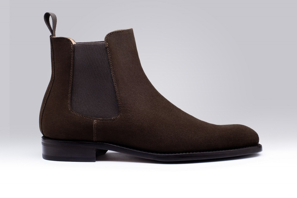 Boots CHELSEA Suede Brown