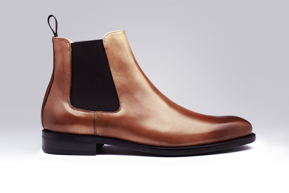 Boots CHELSEA Gold Patina
