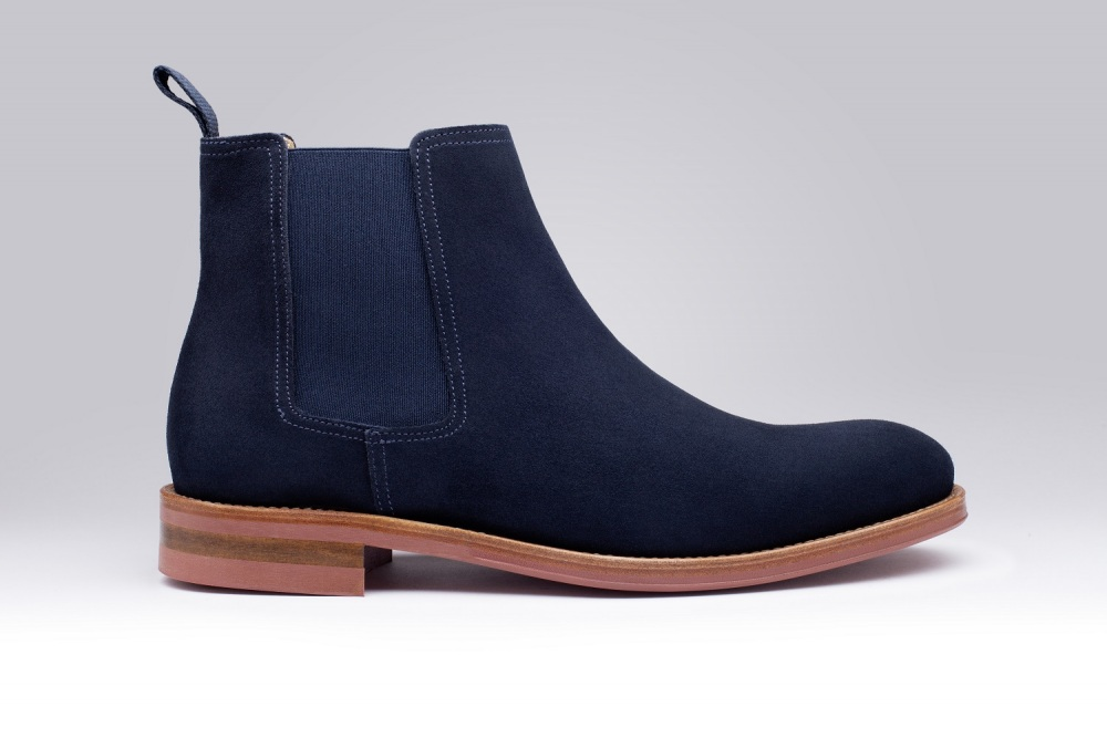 Killsley Veau Velours Bleu Navy