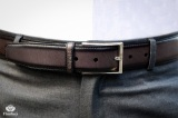 Grey Patina men's Leather Belt