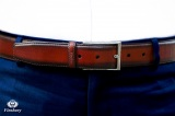 Brown Patina men's Leather Belt