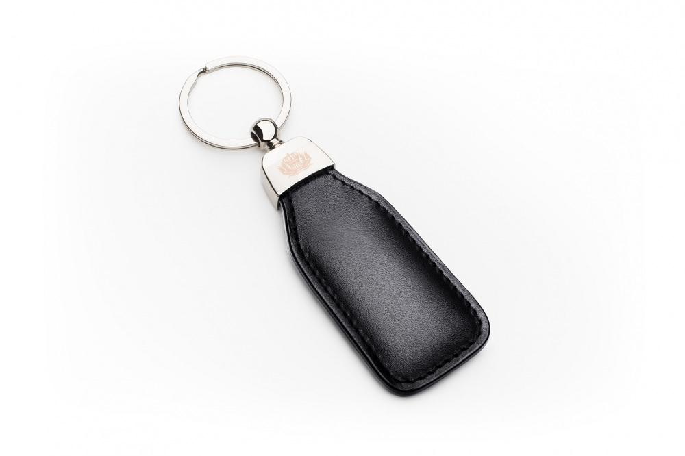 Leather Key Ring Black Patina