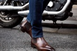 Boots / bottines homme Borghese en cuir marron foncé - Finsbury Shoes