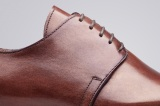 Chaussure ville homme Alessio Marron Patiné - Finsbury Shoes