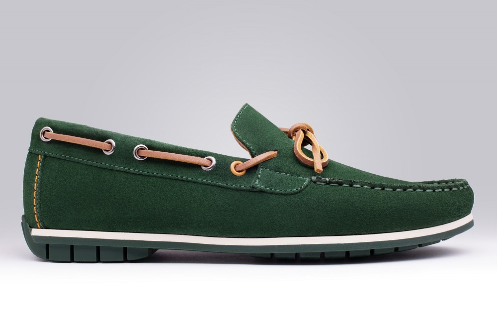 Loafers BOGOTA Green Suede