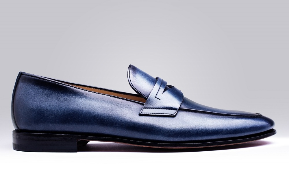 Loafers BRECOURT Blue Patina