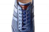 Sneakers MACEO cuir bleu patine