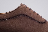 Richelieu LORENZO Daim Veau velours Marron - Finsbury Shoes