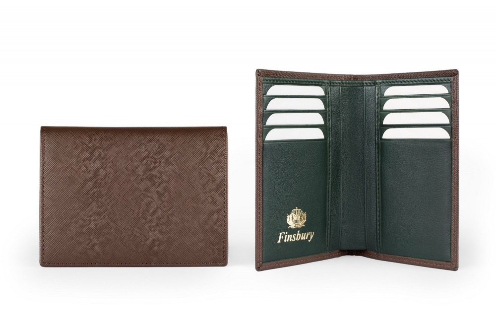 Leather Wallet Brown Saffiano