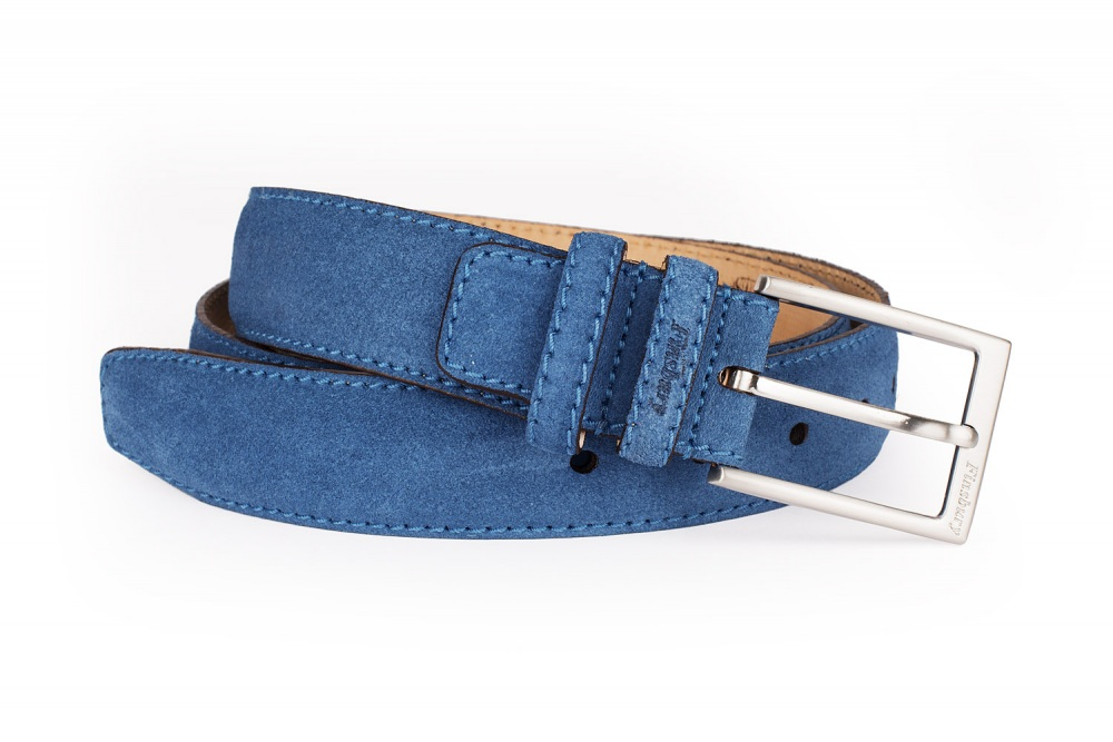 Royal Blue Suede Belt