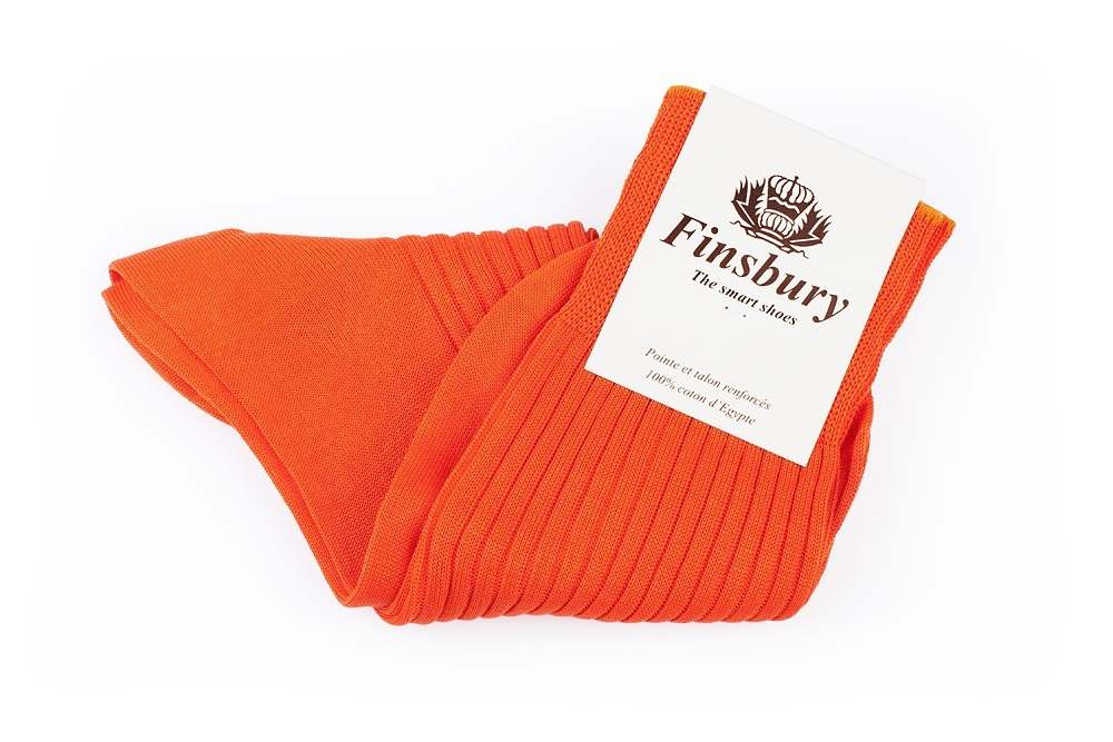 Orange Cotton Socks
