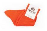 Chaussette couleur orange, 100% coton fabriquée en Italie