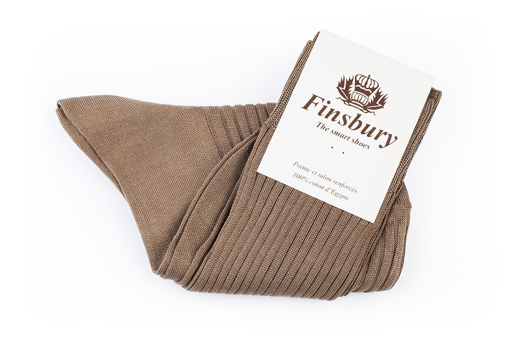 Dark Beige Cotton Socks