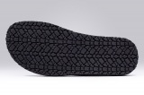 SANDAL PAROS BLACK PEBBLE-GRAIN