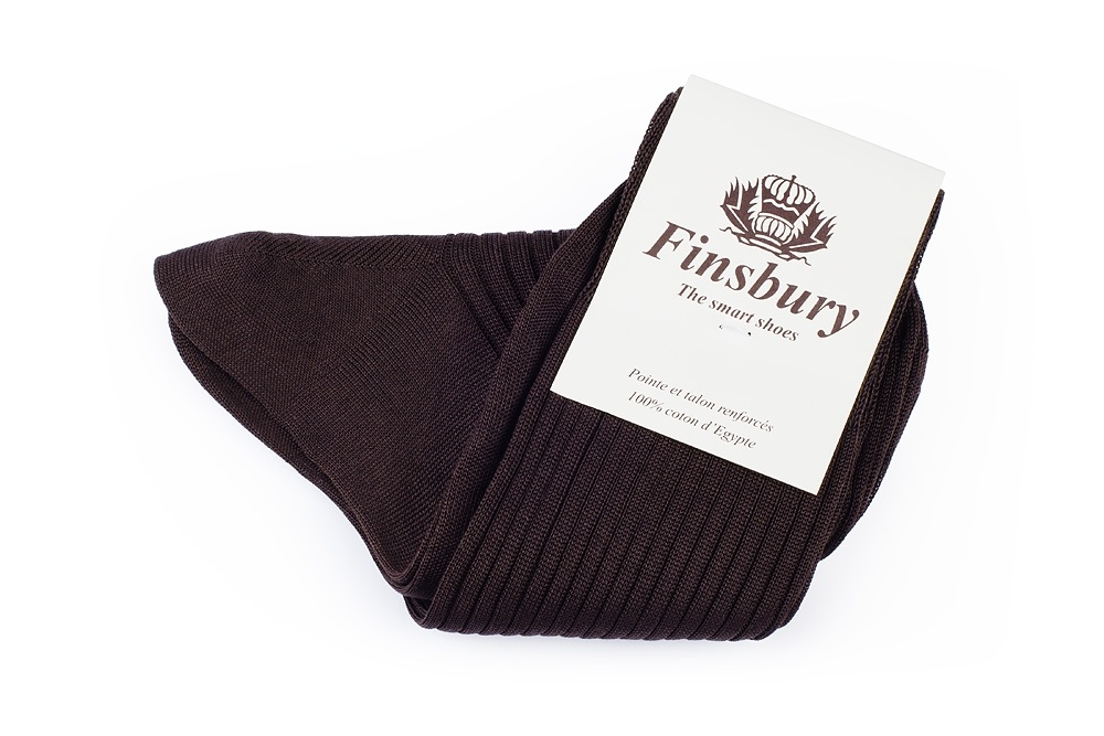 Brown Cotton Socks