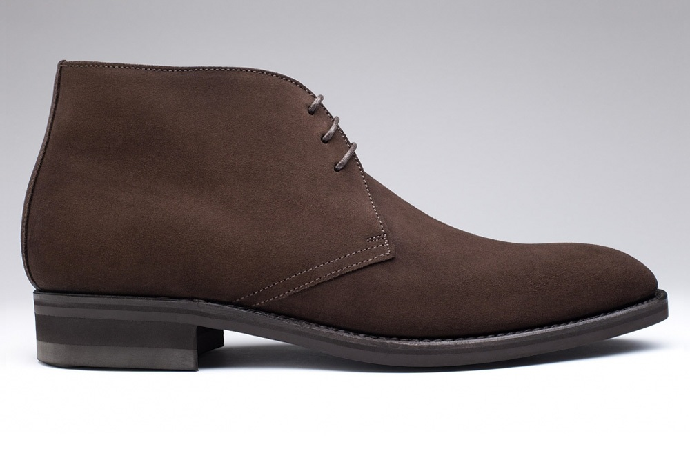 Bottines CHUKKA Veau Velours Marron