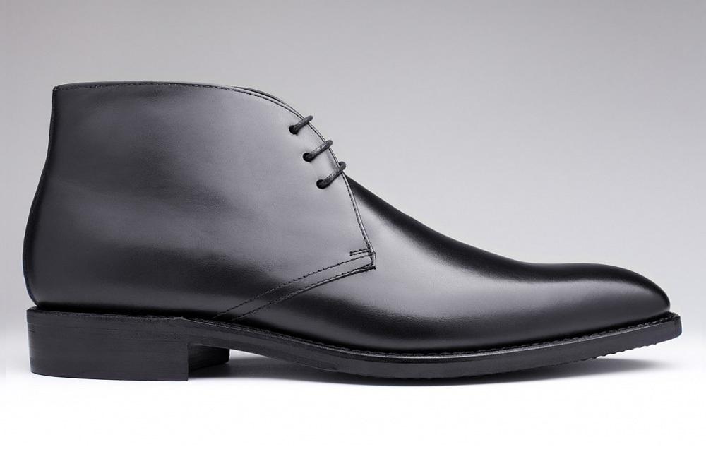 bottines homme cuir noir coutures